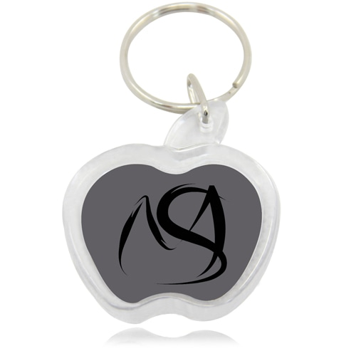 Unique Apple Shaped Acrylic Keychain