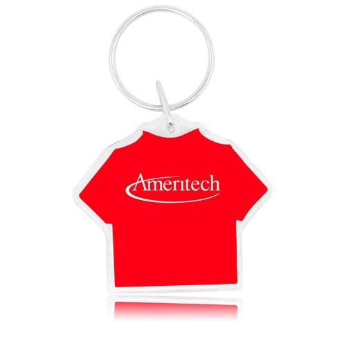 T Shirt Shaped Acrylic Key Tag