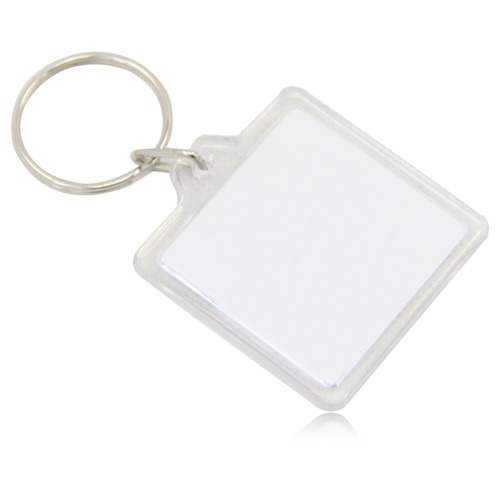 Square Acrylic Key Ring Image 1