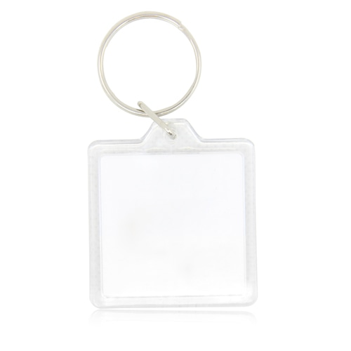 Square Acrylic Key Ring Image 4
