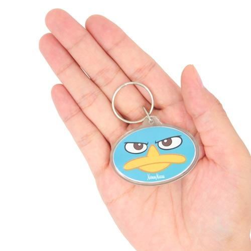 Oval Crystal Acrylic Keychain