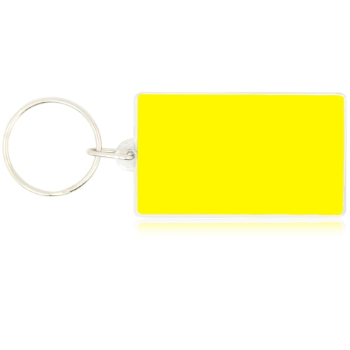 Rectangle Shaped Clear Acrylic Keychain