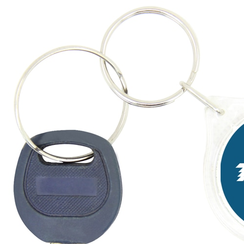 Clear Acrylic Circle Shaped Keychain