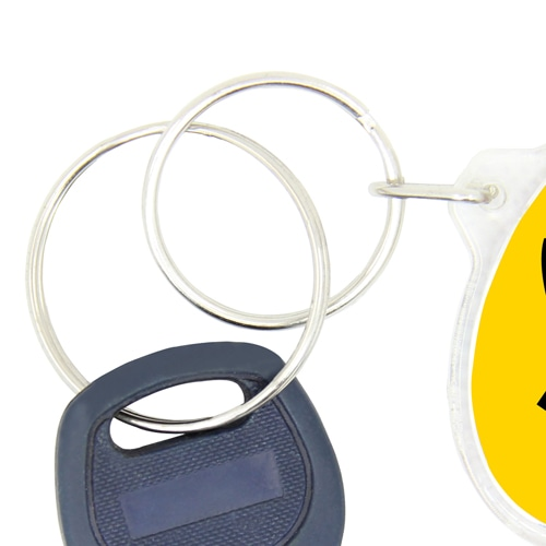 Oval Shaped Acrylic Keyring