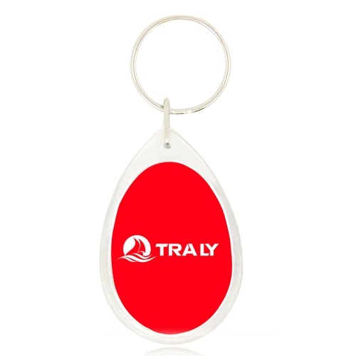 Drop Shaped Acrylic Plastic Keychain