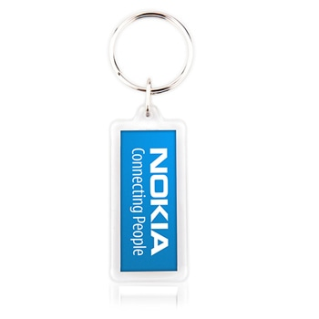 Fancy Rectangle Shaped Acrylic Keychain