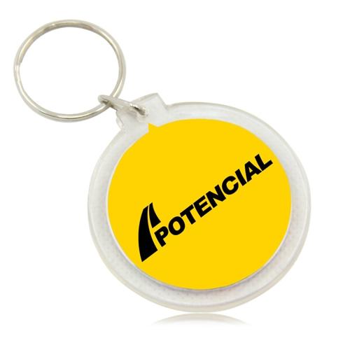 Acrylic Round Keychain