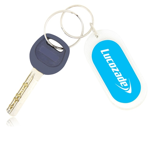 Oblong Acrylic Plastic Keychain