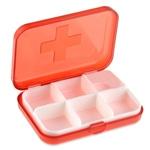 Cross Sign Six Slot Pill Box