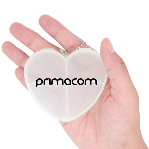 Heart Shaped Pill Box Keychain