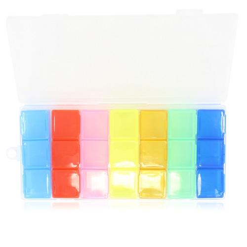21 Slot Pill Medicine Box Set