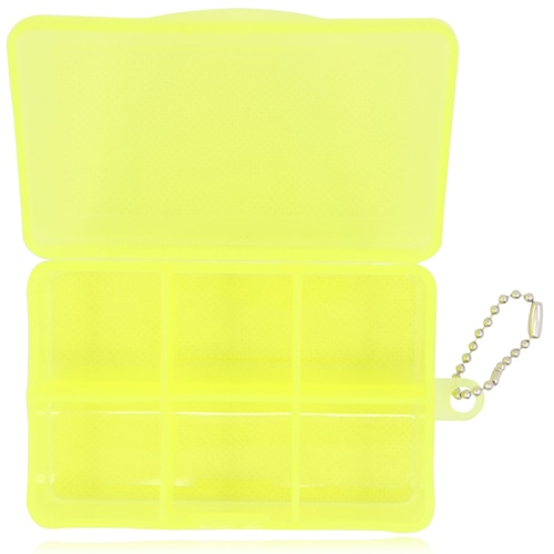 6 Compartment Rectangular Pill Box Keychain