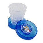 Foldable Collapsible Pill Cup