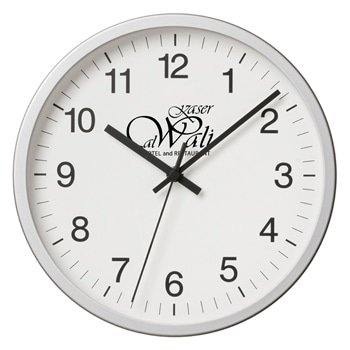 Horloge murale exécutive en aluminium