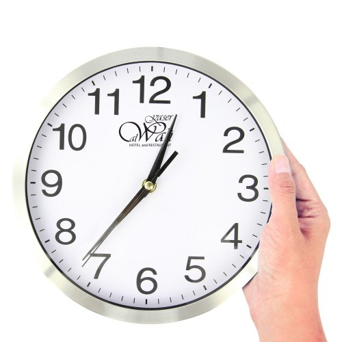 Executive Aluminum Wall Clock Image 3