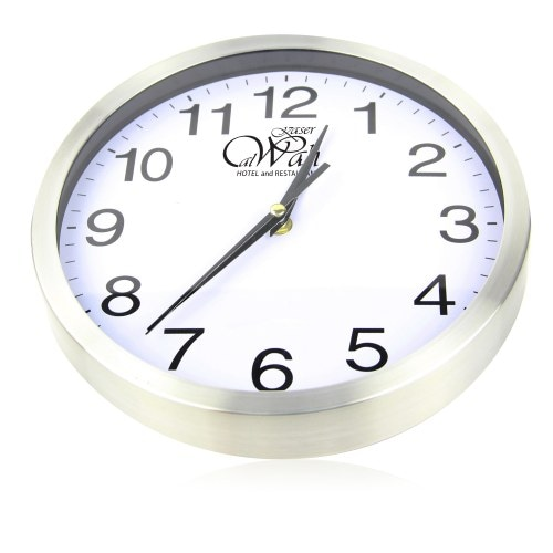 Executive Aluminum Wall Clock Image 4