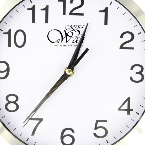 Executive Aluminum Wall Clock Image 5