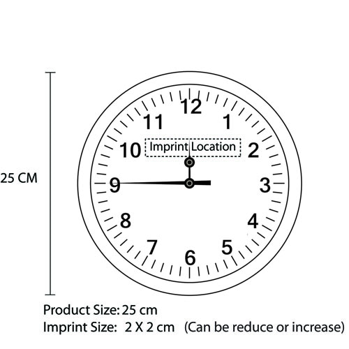 Executive Aluminum Wall Clock Image 11