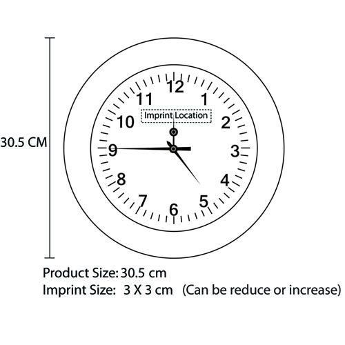 Ritzy Premium Wall Clock Imprint Image