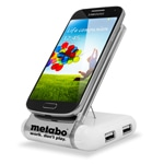 Sticky Phone Stand With USB Hub