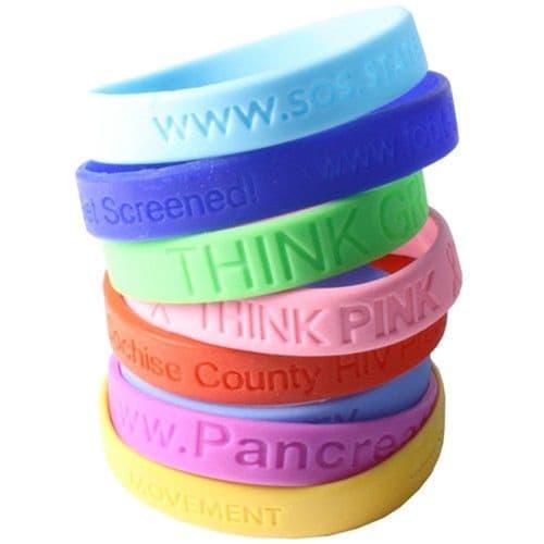 Debossed Awareness Bracelet