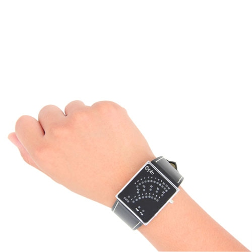 Leather Strap Led Digital Watch