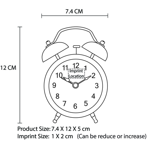Twin Bell Alarm Clock Imprint Image