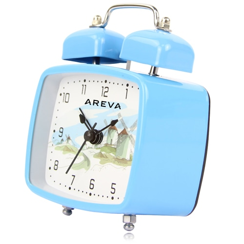 Square Double Twin Bell Alarm Clock Image 1
