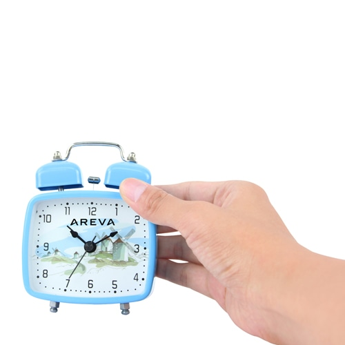 Square Double Twin Bell Alarm Clock Image 3