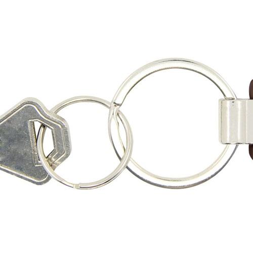 Pentagon Leather Key Tag