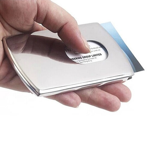 Brushed Stainless Steel Card Holder