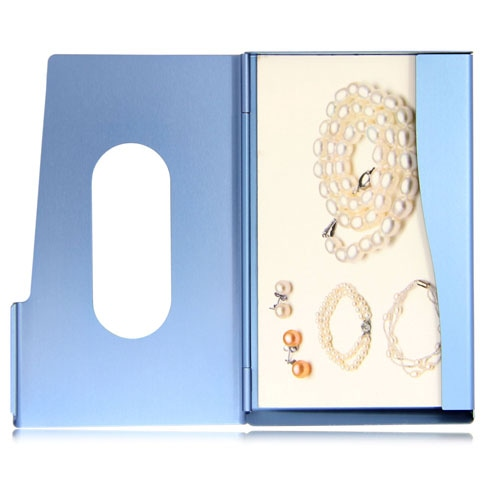 Aluminum Card Holder  With Front Hole