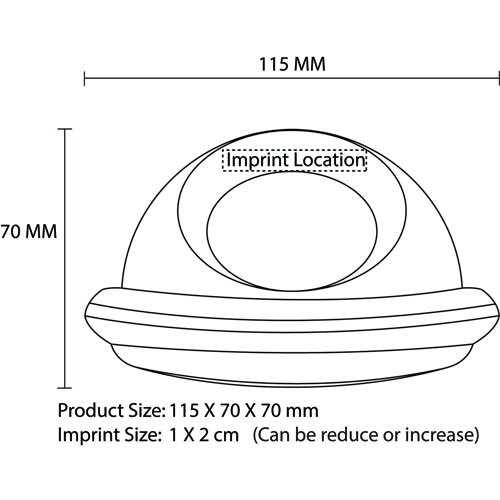 Flying Saucer Shaped Speaking Clock Imprint Image