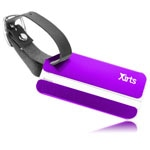 Aluminum Luggage Tag Tag With Leather Belt