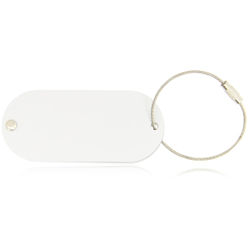Oval Shaped Metal Luggage Tag Image 5