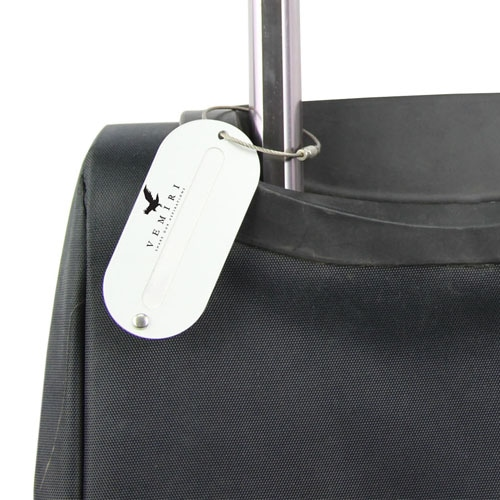 Oval Shaped Metal Luggage Tag Image 6