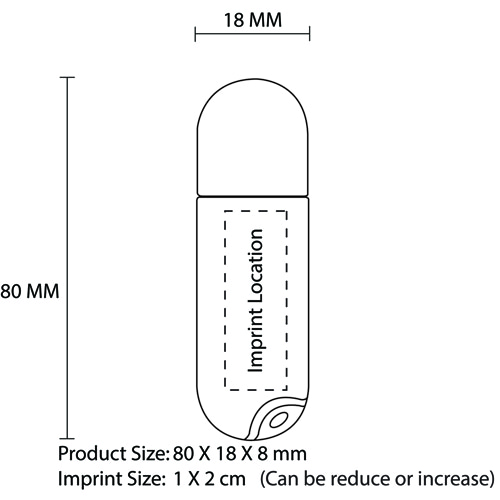 1GB Classy Translucent Flash Drive Imprint Image