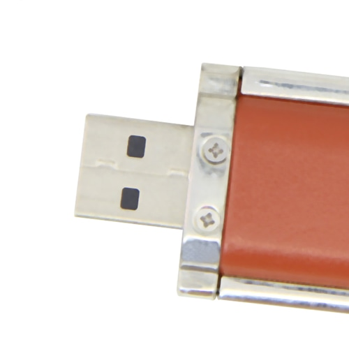 1GB Leather Keyring Flash Drive