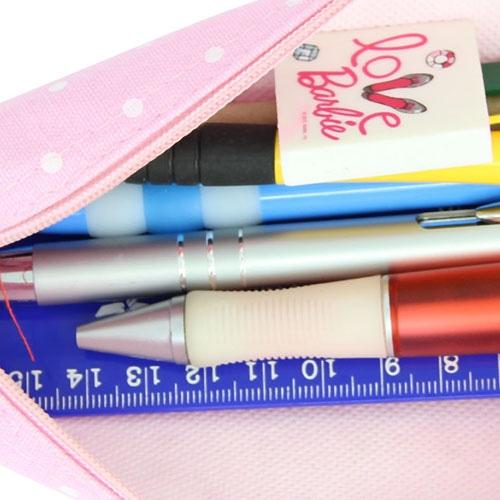 Dot Design Canvas Pencil Case
