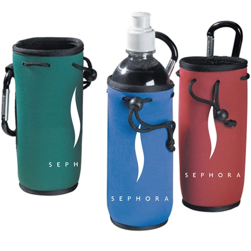 Bottle Cooler Koozie with Carabiner