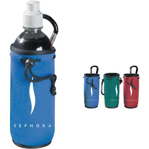 Bottle Cooler Koozie with Carabiner Image 1