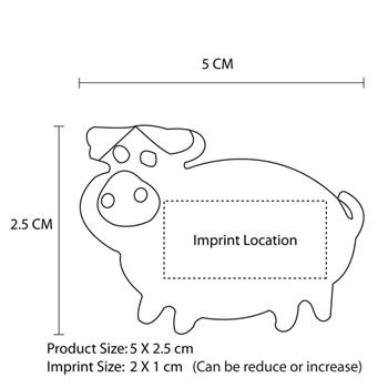 Pig Shaped Eraser