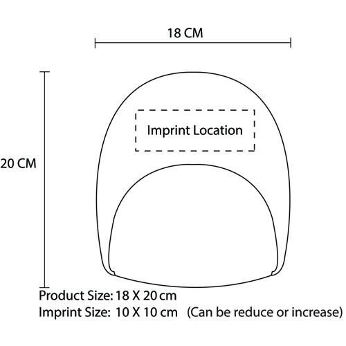 Arcylic Fabric Beanie Hat Imprint Image