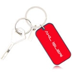 Rectangular Keychain With Metal Tag