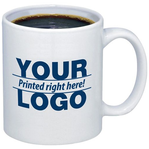 Custom 11 Oz Ceramic Mug With C Handle Image 1