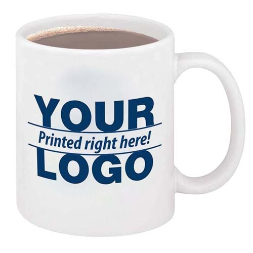 Custom 11 Oz Ceramic Mug With C Handle Image 4