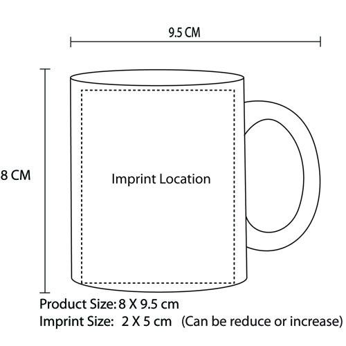 Dashing Delightful Ceramic Mug Imprint Image