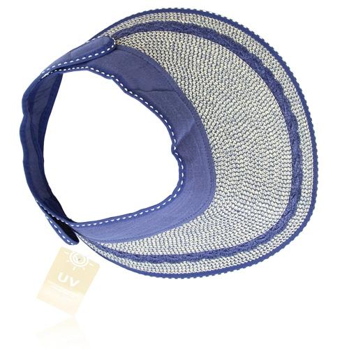 Adjustable Brim Straw Visor