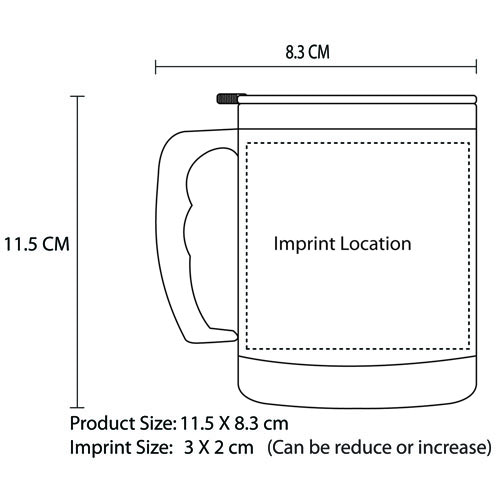 Translucent 16 Oz Travel Mug Imprint Image