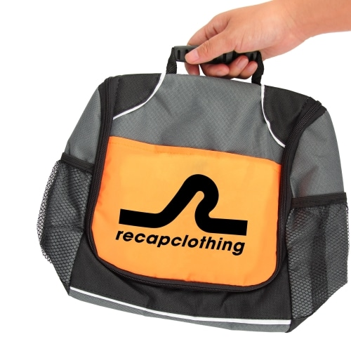 Reflective Lunch Bag with Side Pocket Image 5